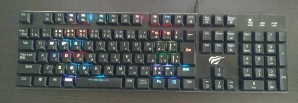 Havit メカニカルキーボード「HV KB395L JP」のスプレッド