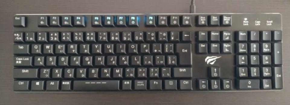 Havit メカニカルキーボード「HV KB395L JP」の巡回