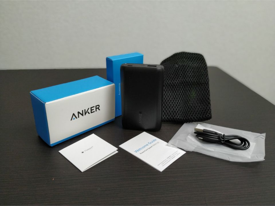Anker「PowerCore Speed 10000 QC」の同梱物