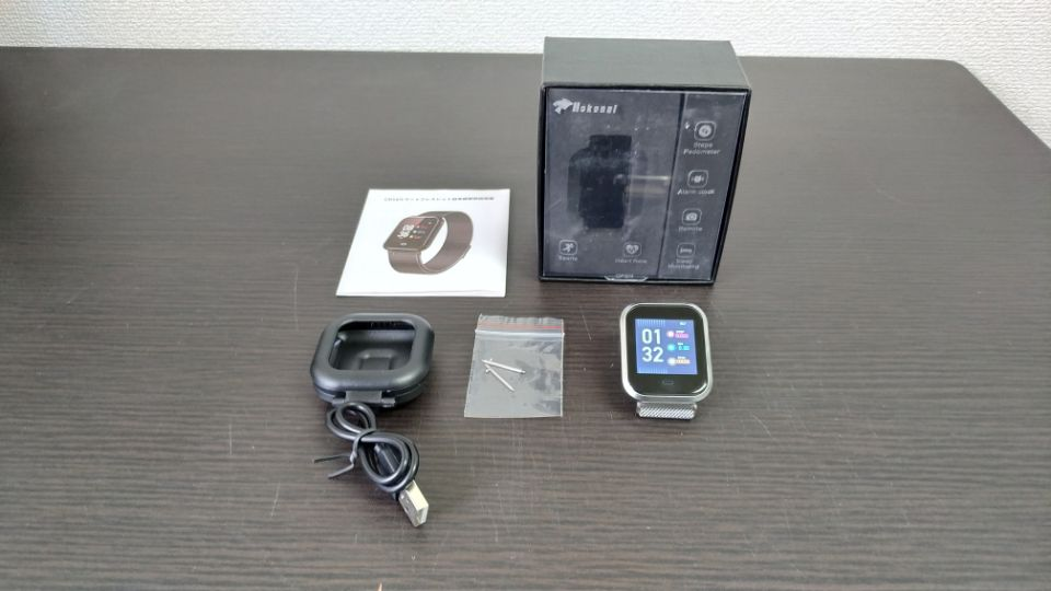 Hokonui スマートウォッチ「CD16」の「本体と付属品」