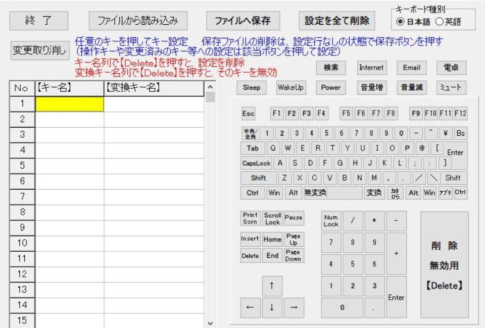 キーボードの配列変更 KeySwapのでの変更方法3