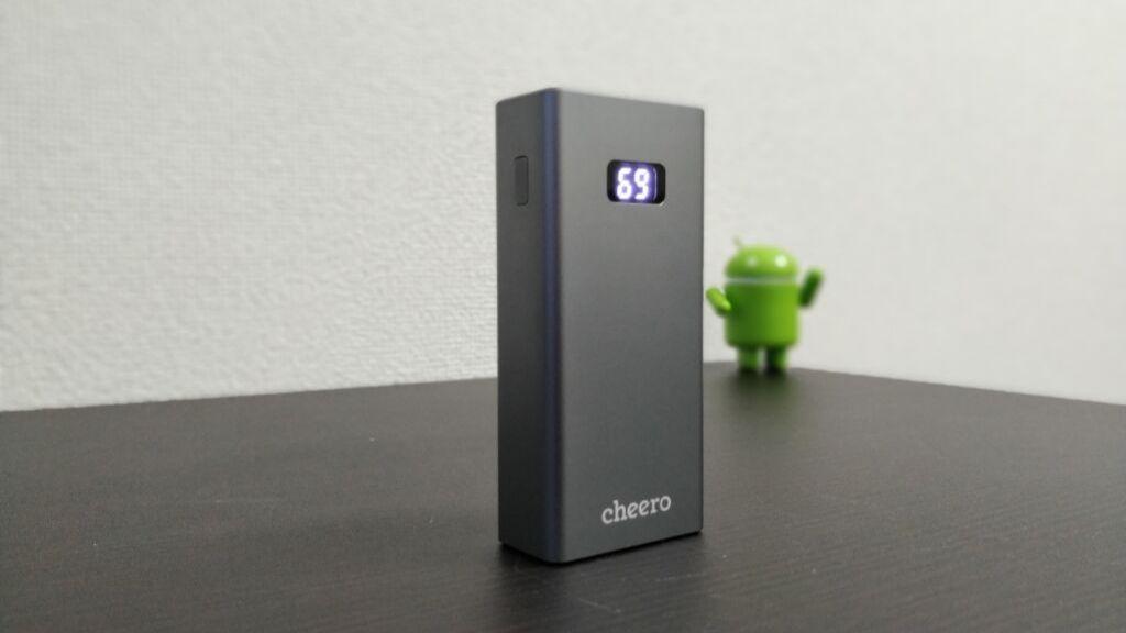 cheero「Power Plus 5」レビュー!!アルミボディーとPD対応の10000mAhモバイルバッテリー