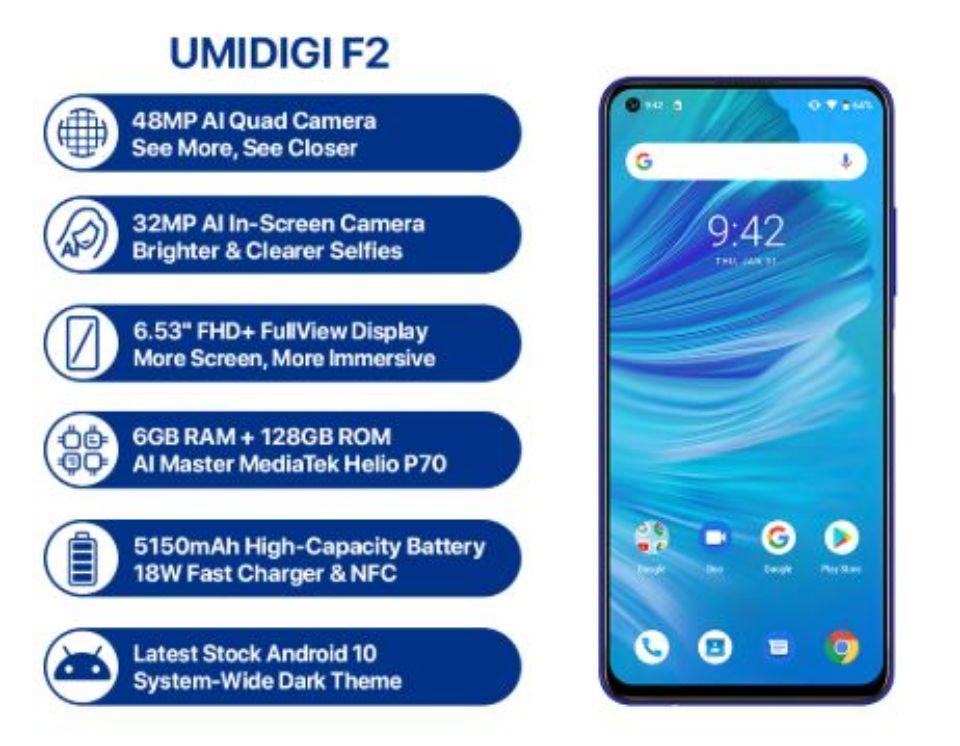 「UMIDIGI F2」のスペックチェック