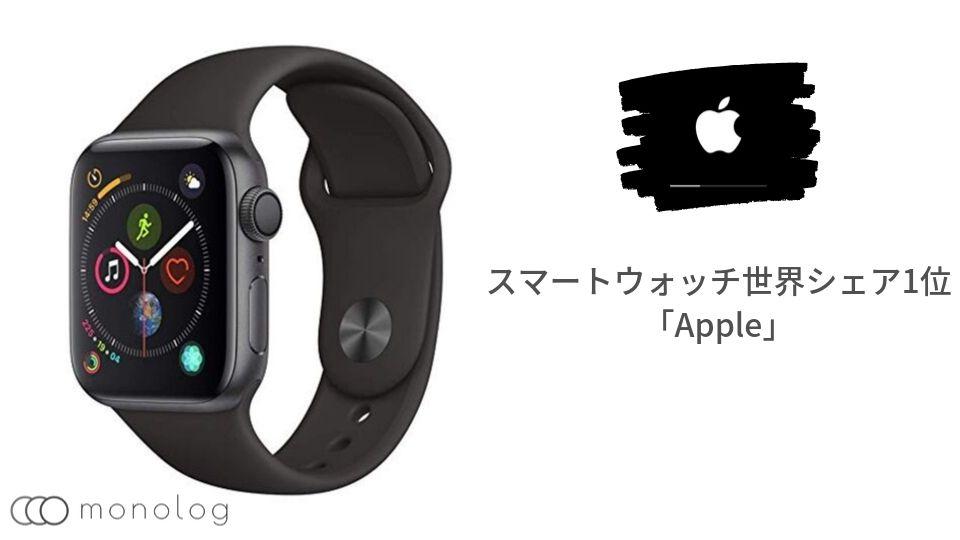 スマートウォッチ世界シェア1位「Apple」