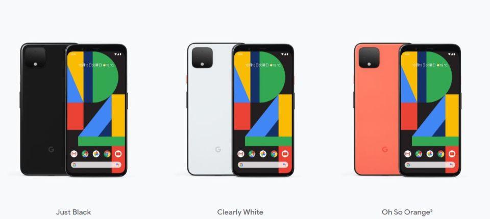 「Google Pixel 4」のデザイン