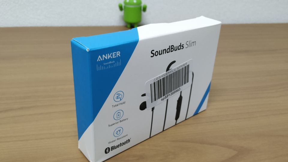 Anker「SoundBuds Slim」改善版の「外箱」