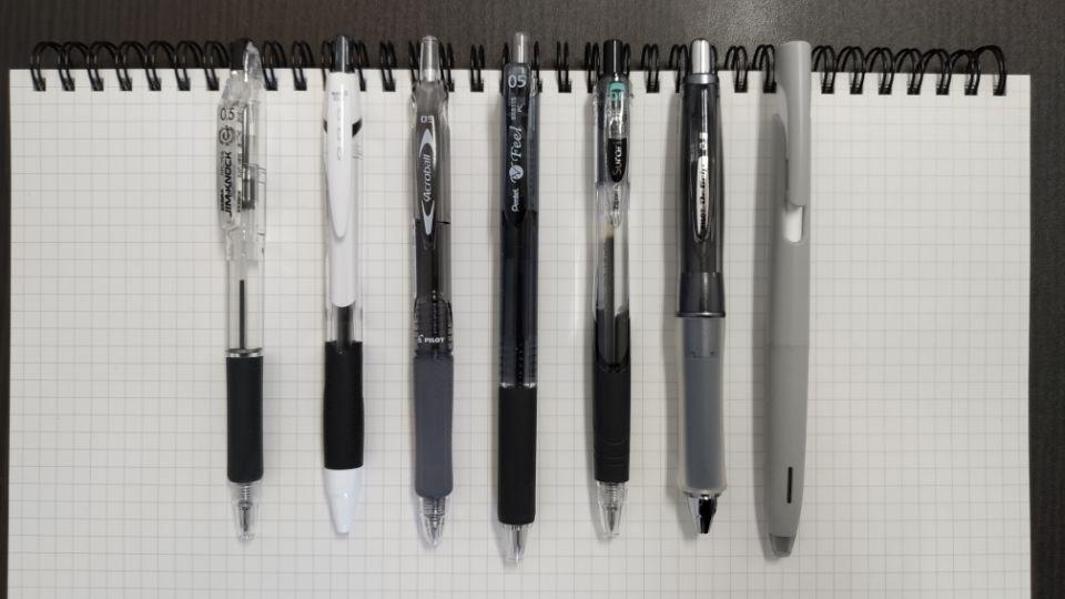 低価格帯油性ボールペン比較表 「デザイン」