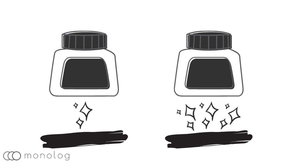 油性ボールペンの選び方とチェックポイント「インクの色合い」
