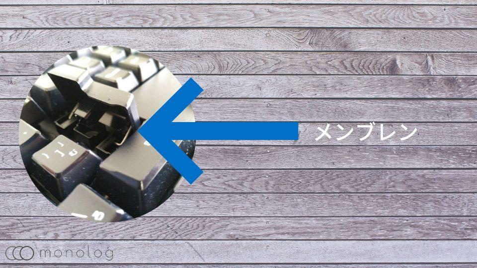 格安キーボードはメンブレン方式