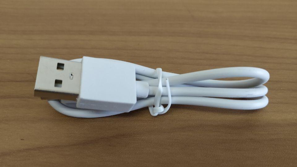 「EarFun Free」の極普通の「充電ケーブル」