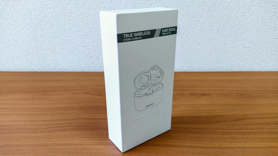 COUMI「Ear Soul TWS-817A」の外箱