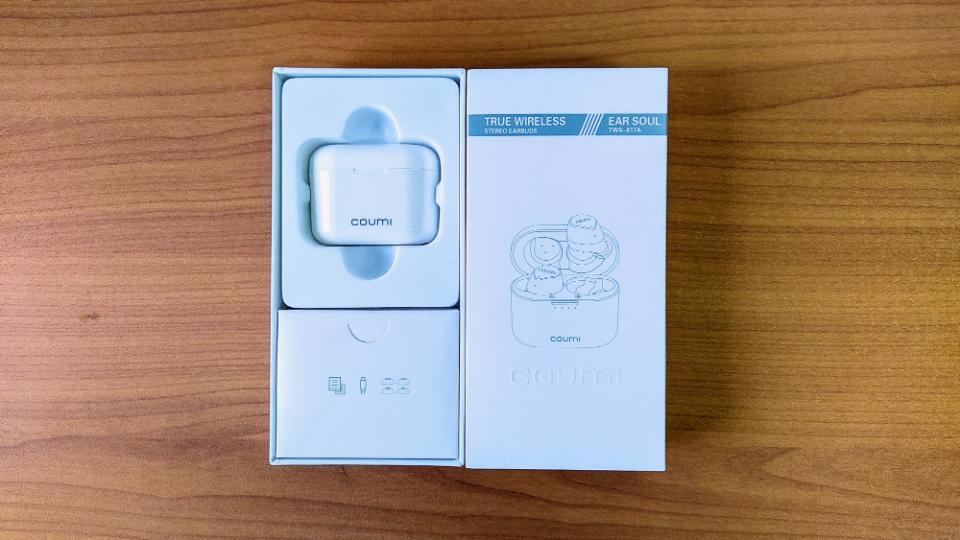 COUMI「Ear Soul TWS-817A」の内箱