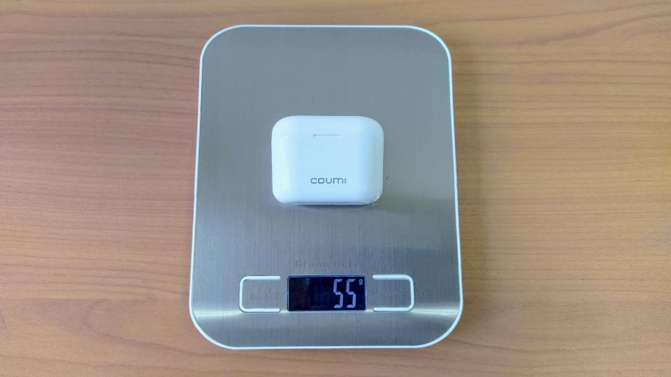 COUMI「Ear Soul TWS-817A」の充電ケース重量