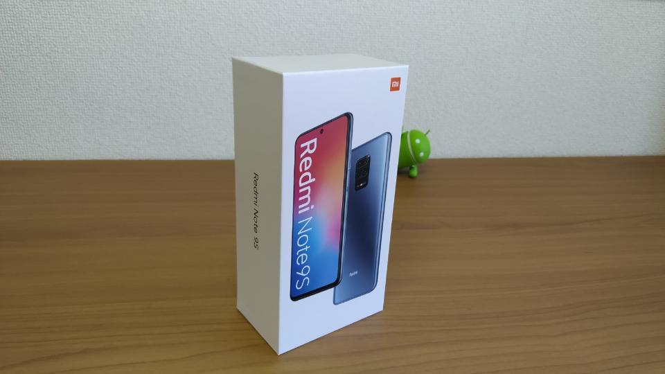 Xiaomi「Redmi Note 9S」の「外箱」