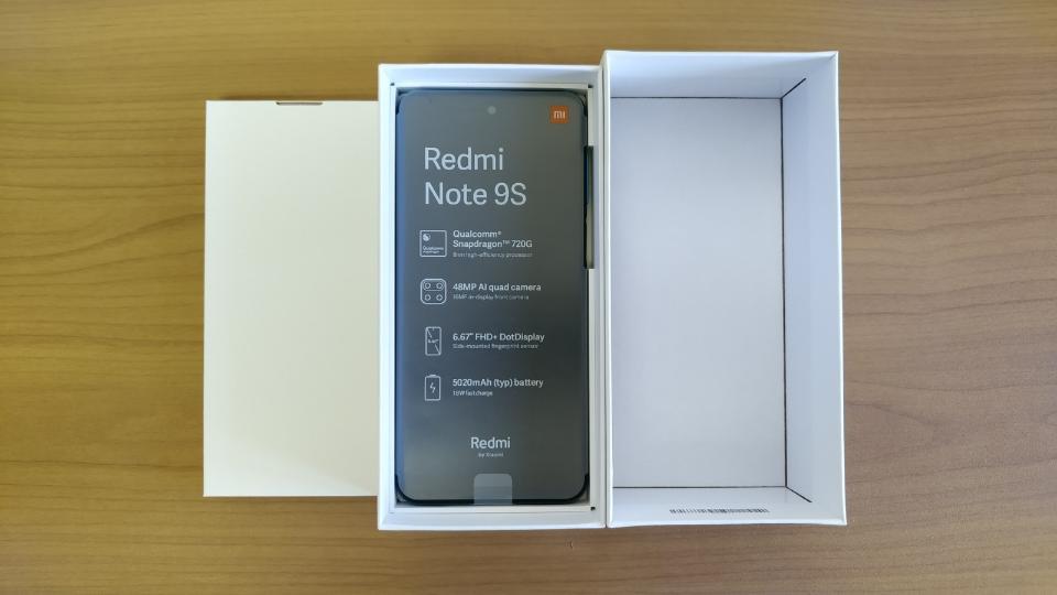 Xiaomi「Redmi Note 9S」の「内箱」