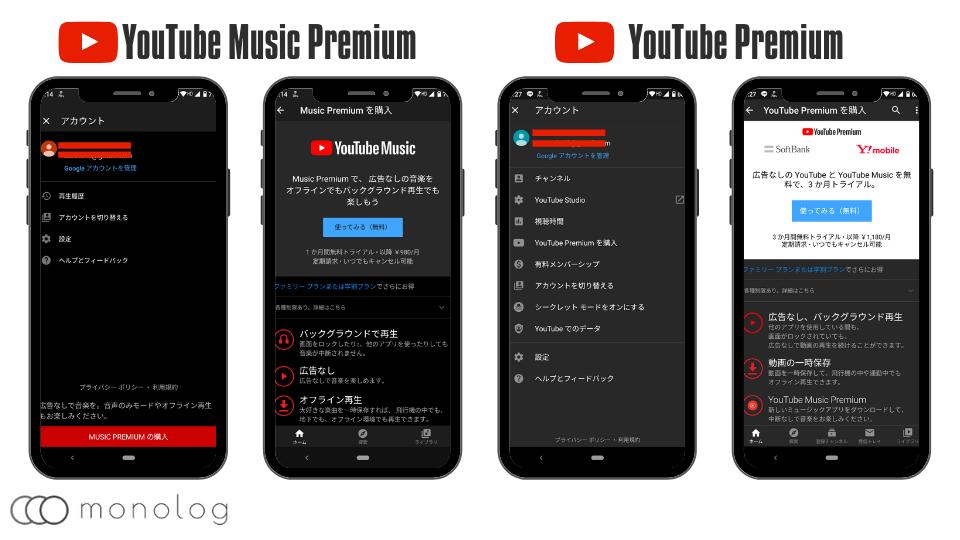 YouTube Music Premiumの無料トライアル