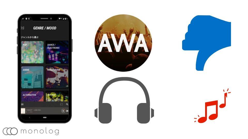 「AWA」のデメリット
