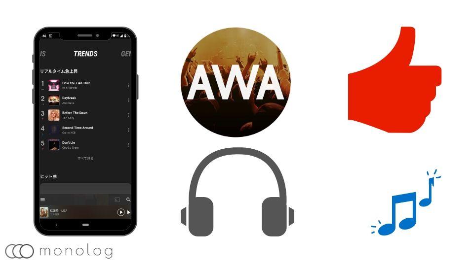 「AWA」のメリットとおすすめ人