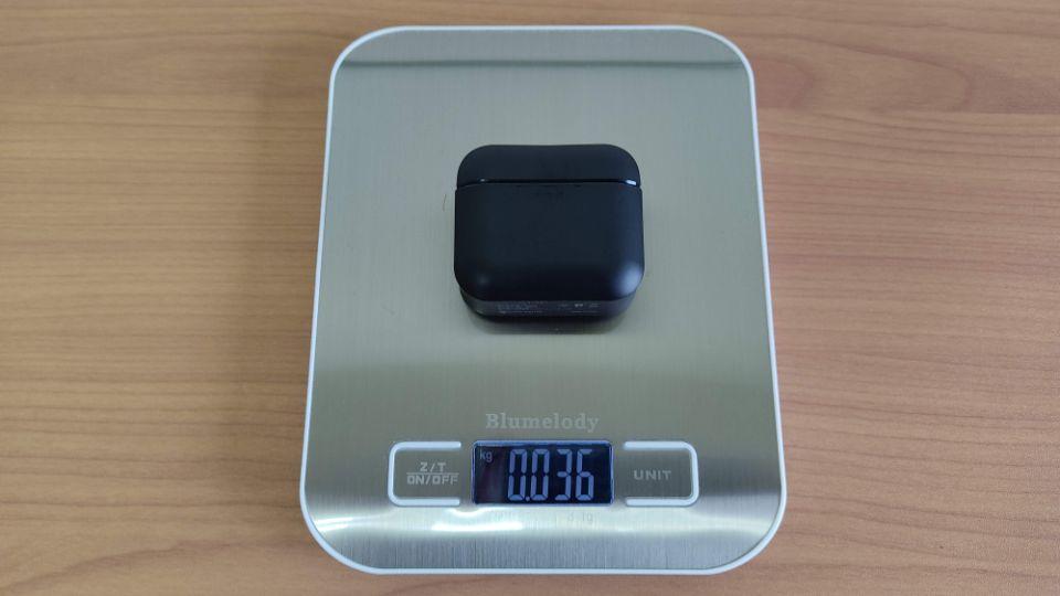 JPRiDE「TWS-520」のケース重量