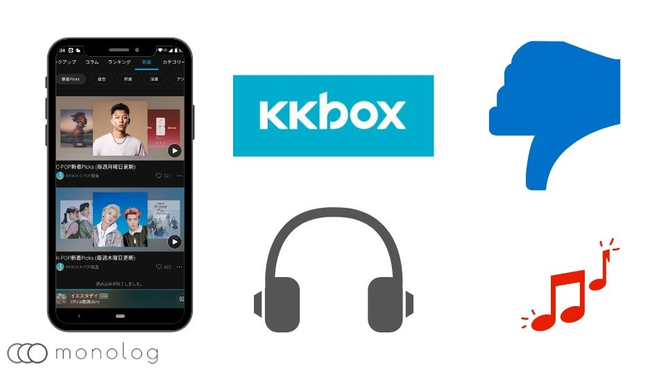 「KKBOX」のデメリット