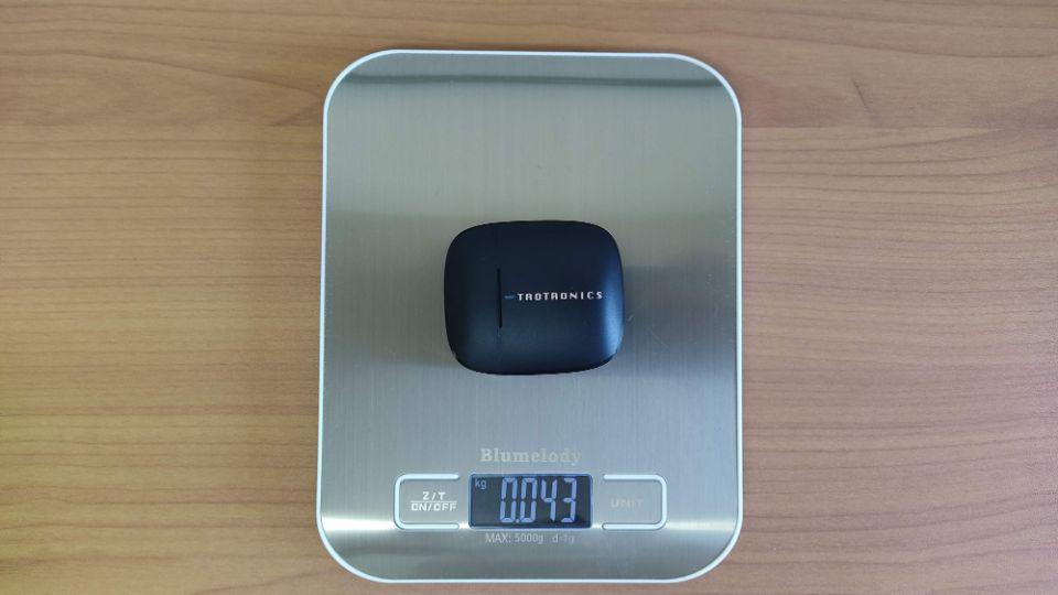 TaoTronics「SoundLiberty 92」の本体+充電ケース重量