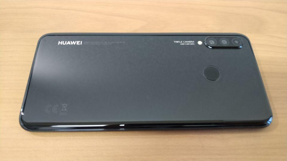 「HUAWEI P30 Lite」の高品質なガラスの「背面」