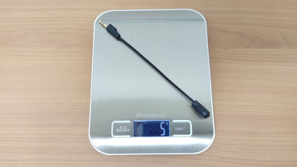 「Eksa AirJoy Pro」のマイク重量