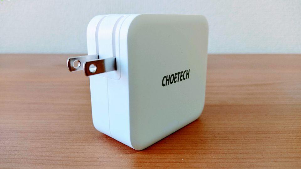 CHOETECH「PD6008」のACプラグ