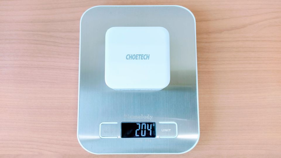 CHOETECH「PD6008」の重量