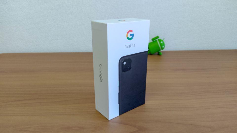「Google Pixel 4a」の外箱