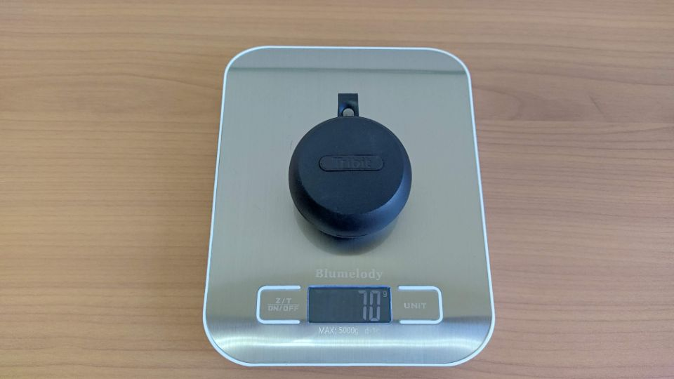 Tribit「Flybuds 1」のケース重量