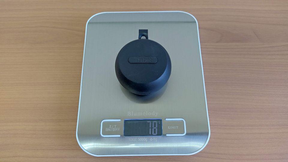 Tribit「Flybuds 1」の本体とケースの重量