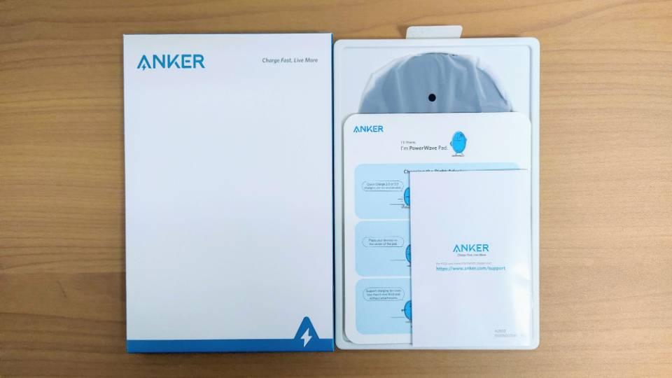 Anker「PowerWave 10 Pad」改善版の内箱