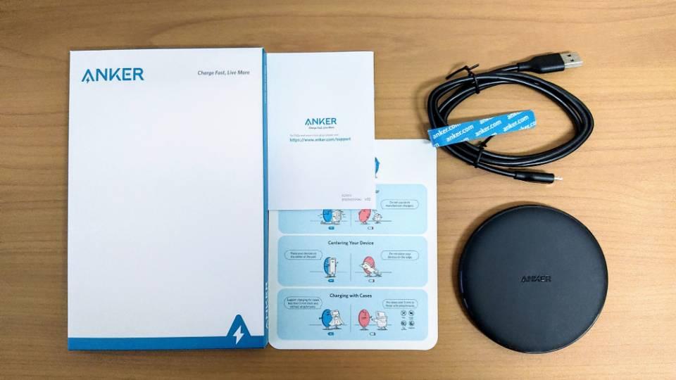 Anker「PowerWave 10 Pad」改善版の同梱物