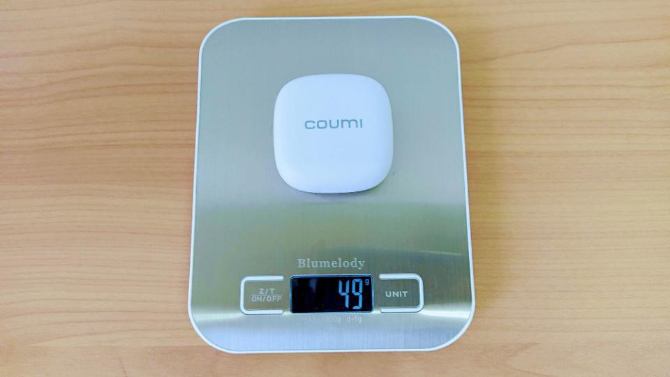 COUMI「Ice dropTWS-817K」の充電ケース重量