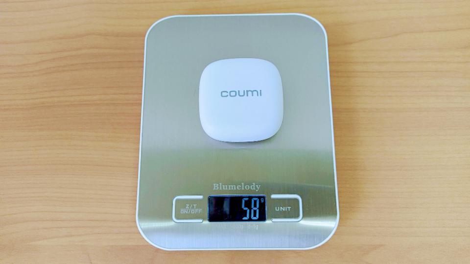 COUMI「Ice dropTWS-817K」のイヤホン+充電ケース重量