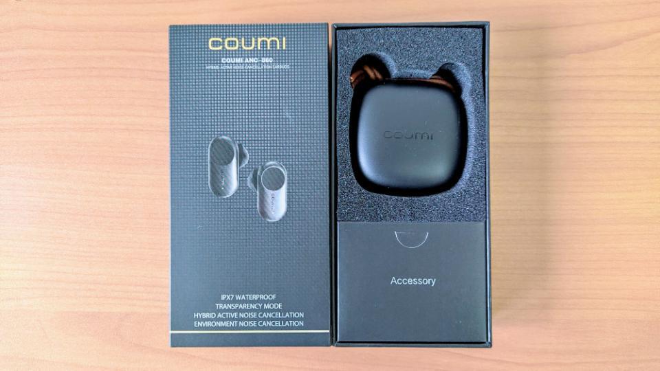 COUMI「TWS ANC860」の内箱