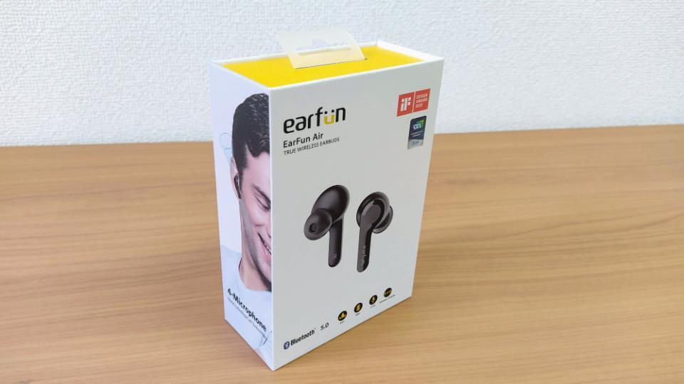 「EarFun Air」の外箱