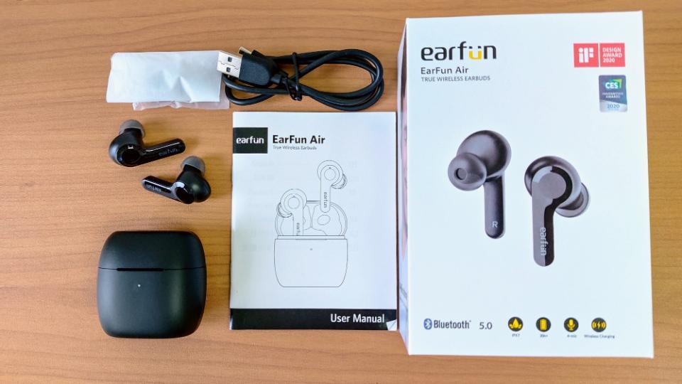 「EarFun Air」の同梱物