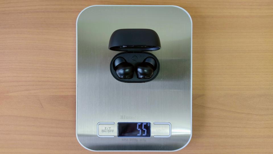 「EarFun Air」のイヤホン+ケース重量