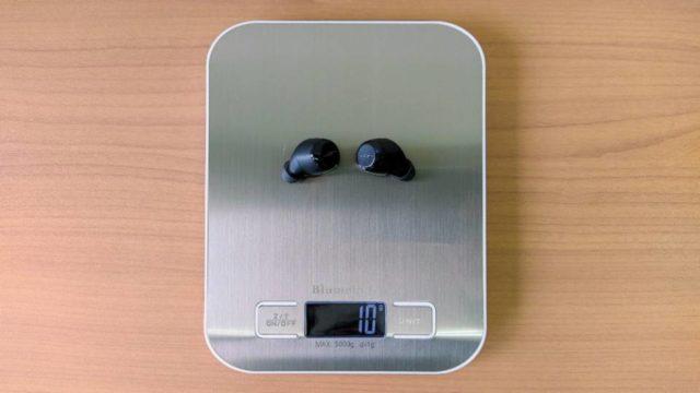 JPRiDE「TWS-X」のイヤホン重量
