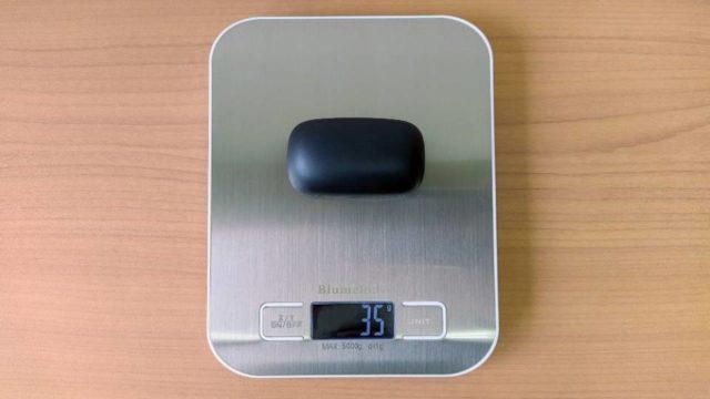 JPRiDE「TWS-X」の充電ケース重量