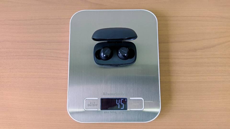 JPRiDE「TWS-X」の本体+充電ケース重量
