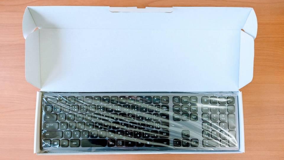 「SEENDAワイヤレスキーボード」の内箱