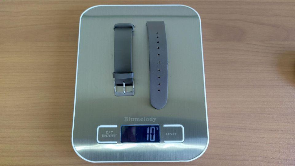 mobvoi「TicWatch C2 」のベルト重量