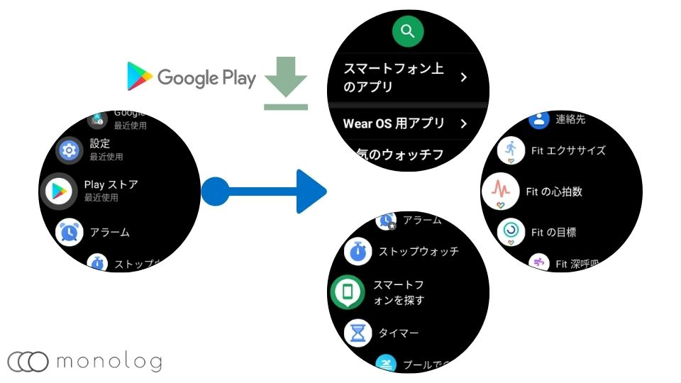 「Wear OS by Google」のアプリ