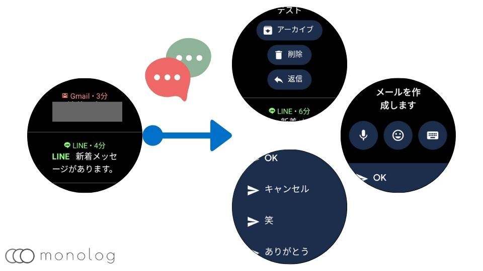 「Wear OS by Google」の通知