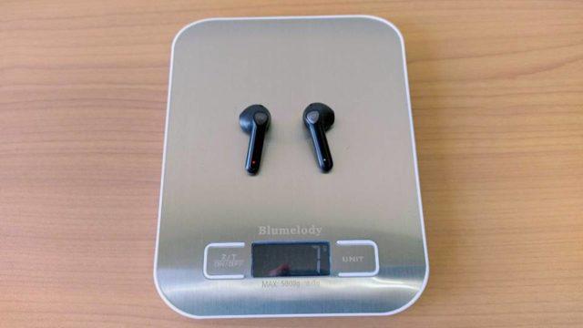 SoundPEATS「TrueAir2」の本体重量