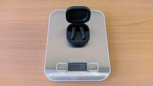 SoundPEATS「TrueAir2」の本体+充電ケース重量