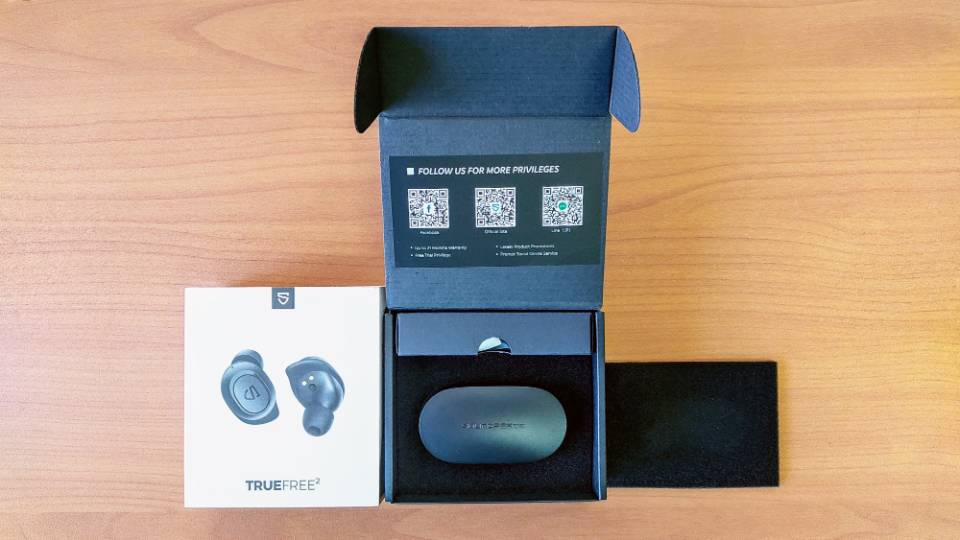 SoundPEATS「TrueFree 2」の内箱
